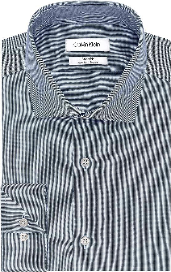 Calvin Klein 卡尔文克莱因 CK 修身款 免熨 男式长袖衬衫 2.9折$23.13 海淘转运到手约¥181