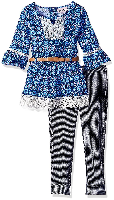 18e7b12bdde9 Amazon.com  Little Lass Baby Girls  2 Piece Legging Set Belted ...