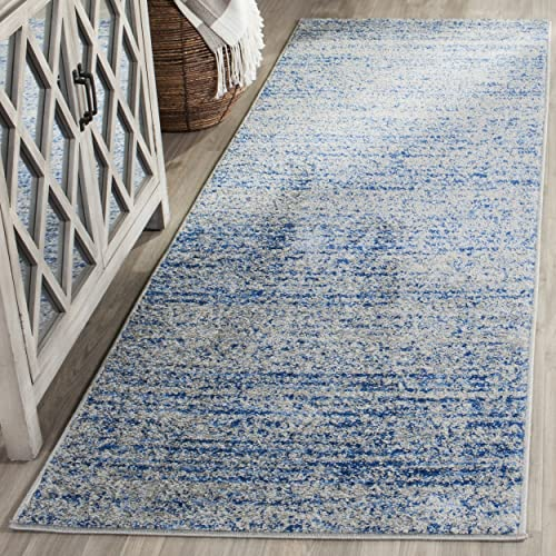 Safavieh Adirondack Collection ADR117D Blue and Silver Contemporary Runner 2 6 x 22