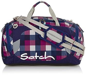 Satch Sporttasche Berry Carry - Lila 966 karo lila blau