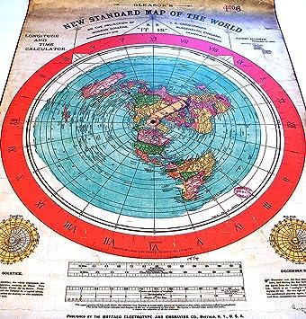 Flache Erde Karte Kaufen.Flache Erde Flat Earth Gleasons Neue Standardkarte Der