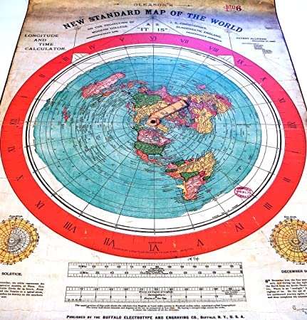 Flat Earth Poster Prints: Gleasons New Standard Map of the World