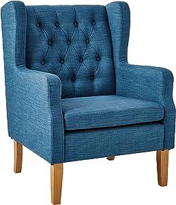 "Ravenna Home Margaret Modern Living Room Chair, 28""W, Blue"