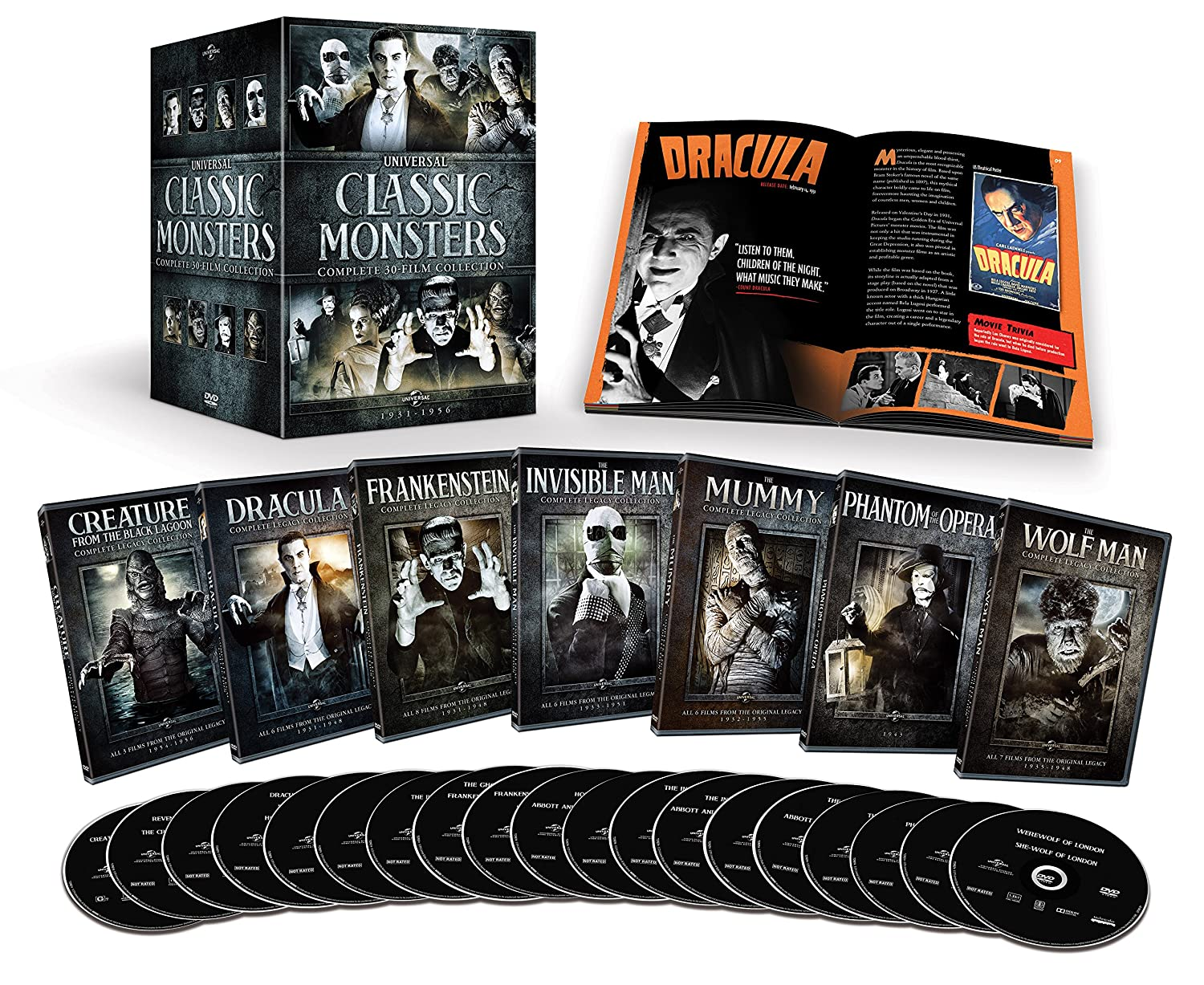 Amazon.com: Classic Monsters (Complete 30-Film Collection): Bela ...