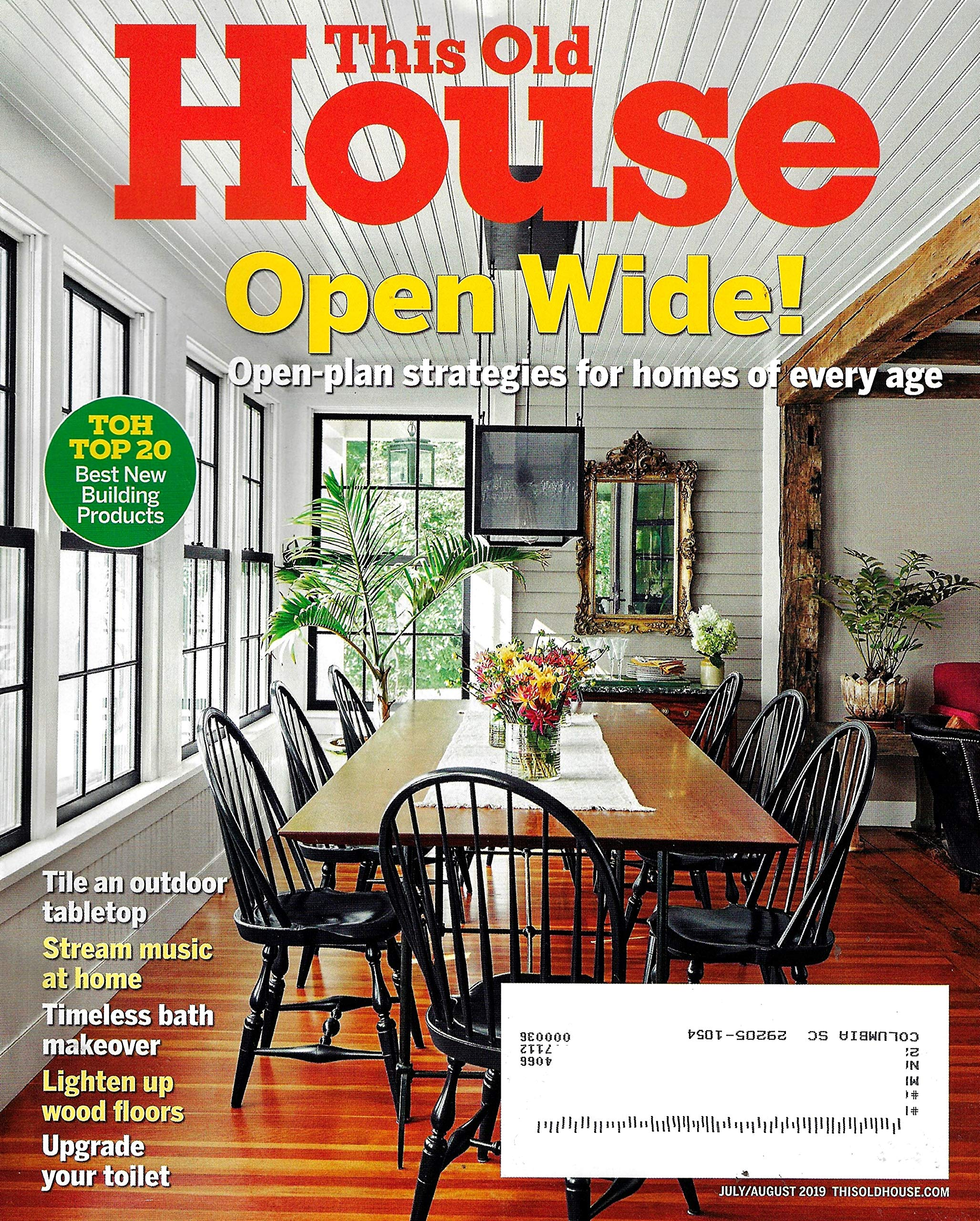 This Old House Magazine (July / August, 2019) OPEN-PLAN ... Plan Home Magazine on home plan software, home plan collections, home plan kitchen,