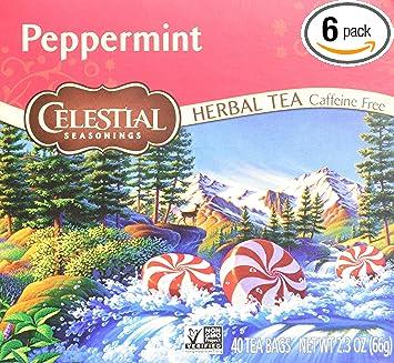 Amazoncom Celestial Seasonings Herbal Tea Peppermint 40 Count