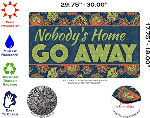 Toland Home Garden 800439 Go Away Doormat, 18 x 30 , Multicolor
