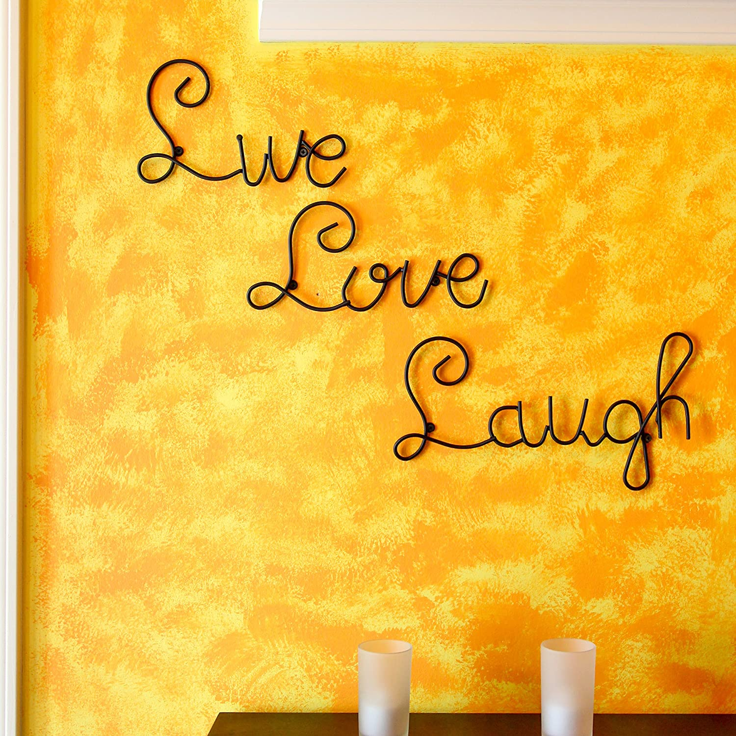 Tripar Live Love Laugh Set 3 Wall Mount Metal Wall Word Sculpture ...