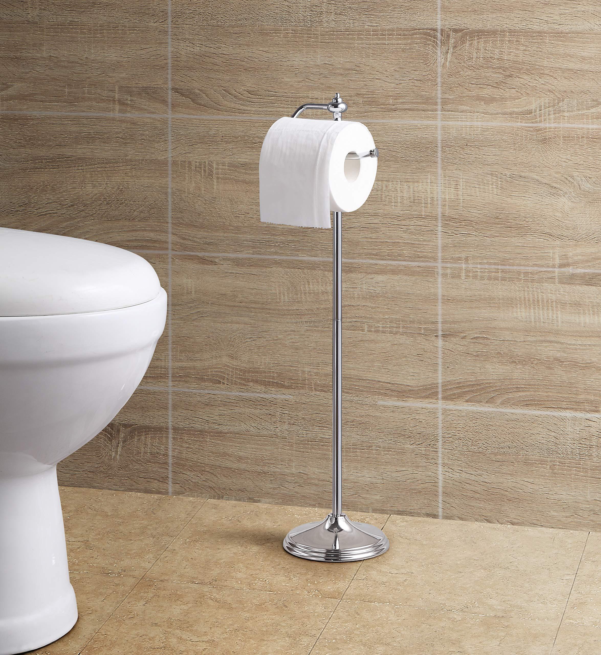 Sunnypoint bathroom free standing toilet tissue paper roll - Bathroom toilet paper holder free standing ...