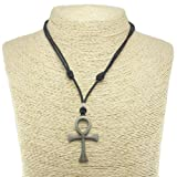 Amazon Price History for:Metal Ankh Pendant on Adjustable Cord Necklace (Old Silver)
