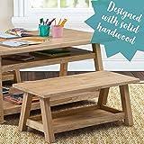 ECR4Kids Sit n' Stash Solid Hardwood Bench with