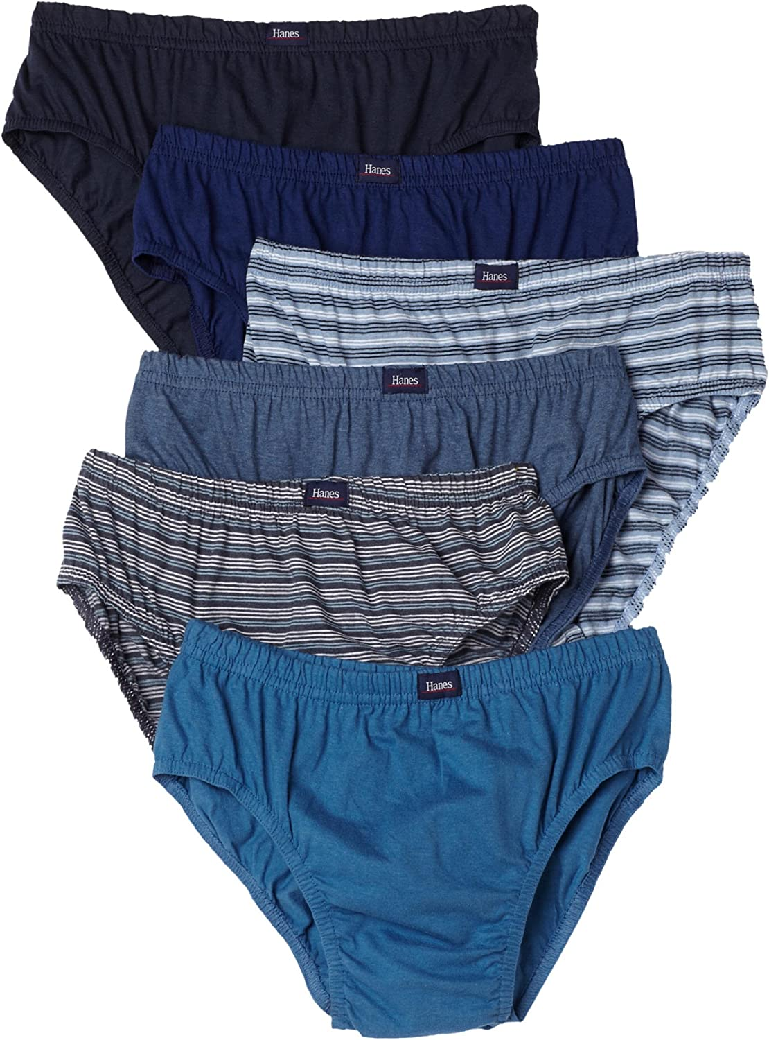 Hanes Ultimate Men's 6-Pack Classic Comfort Flex Waistband Sport Brief Underwear