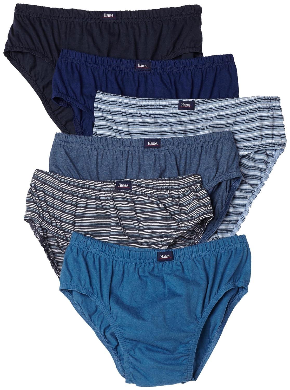 Hanes Mens 6-Pack Classic Comfort Flex Waistband Sport Brief Underwear 7550P6