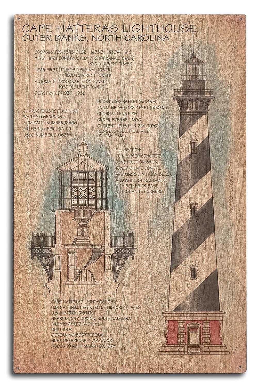 代引き手数料無料 Outer Banks, Lantern North Carolina - Sign Cape Hatteras B073668JT7 Lighthouse Technical (12x18 Art Print, Wall Decor Travel Poster) by Lantern Press B073668JT7 10 x 15 Wood Sign 10 x 15 Wood Sign, Ladia:c26e0fe4 --- campdxn.com