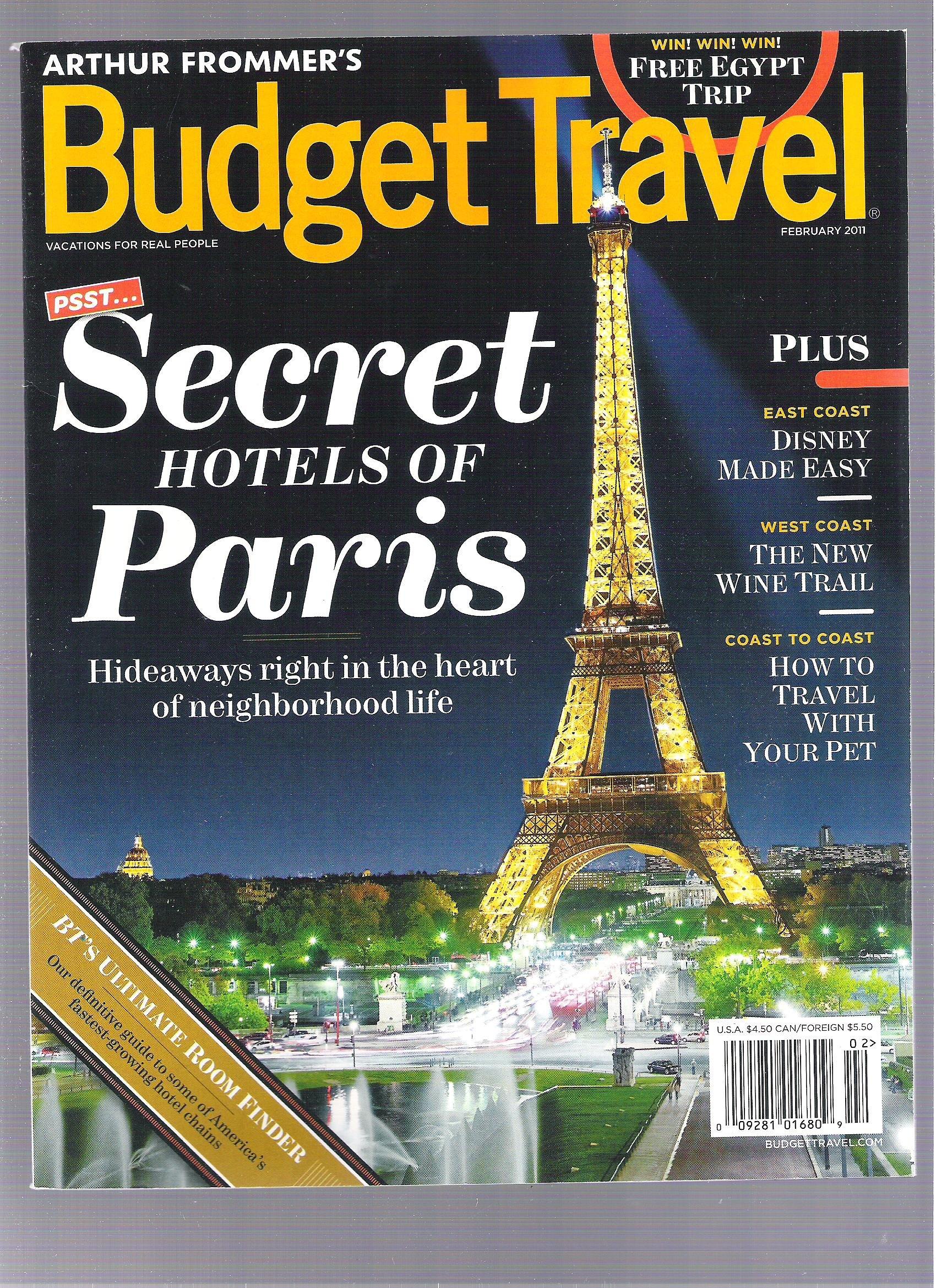 Budget Travel Magazine Secret Hotels Of Paris Amazon Com Books