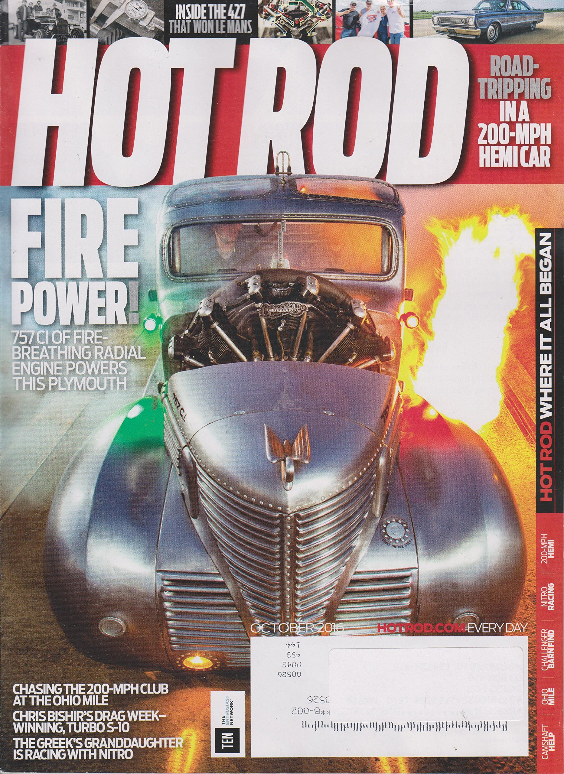 Hot Rod October 2016 Fire Power! 757 CI of Fire - Breathing Radial Engine Powers This Plymouth pdf epub