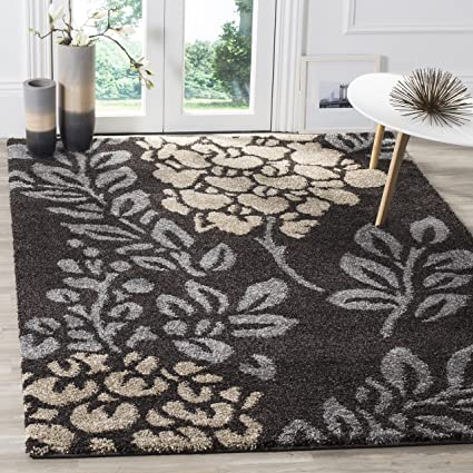 d34a22107fd Safavieh Florida Shag Collection SG456-2880 Dark Brown and Grey Area Rug  (5 3