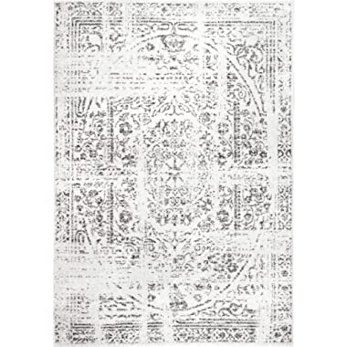 Rivet Muted Boho Rug, 5' x 8', Off-White