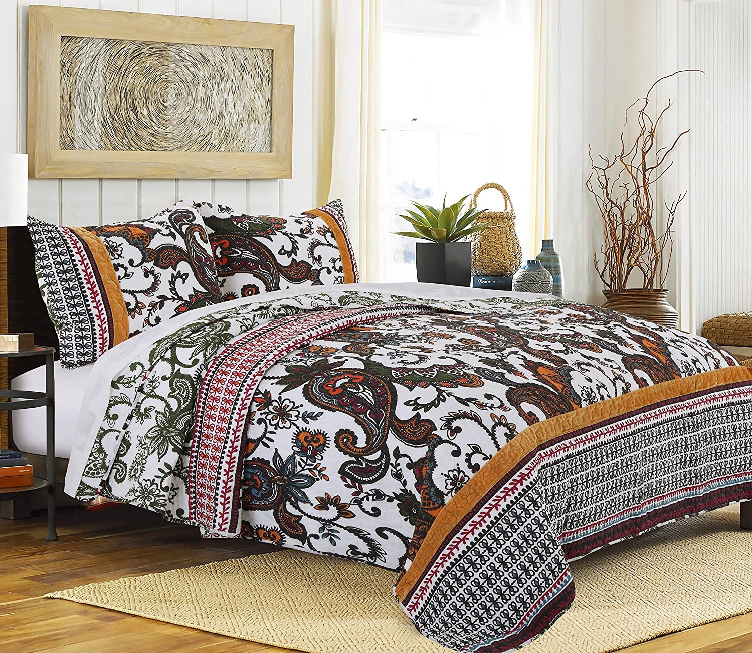 Greenland Home 3 Piece Orleans Quilt Set, King