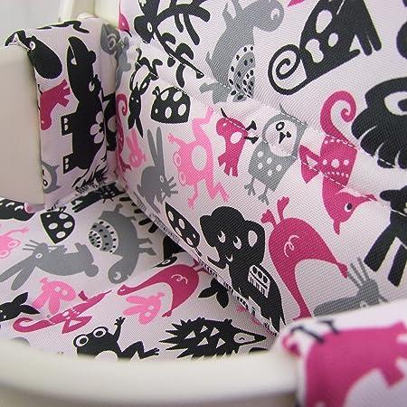 Babys-Dreams - Juego de cojines para trona Stokke Tripp Trapp, 20 colores, 2 piezas (cuadros blancos y negros)