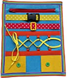 Yoovi Montessori Learn to Dress Boards Toddler Felt Busy Board Kids Quiet Boards Baby Educational Travel Toys - Zip,Button, Buckle, Lace, Early Learning Basic Life Skills Soft Toy
