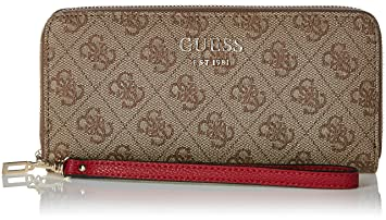 Guess Damen Vikky Geldbörse, Braun (Brown Bro), 21x10x2 Centimeters ... 44aaa932691