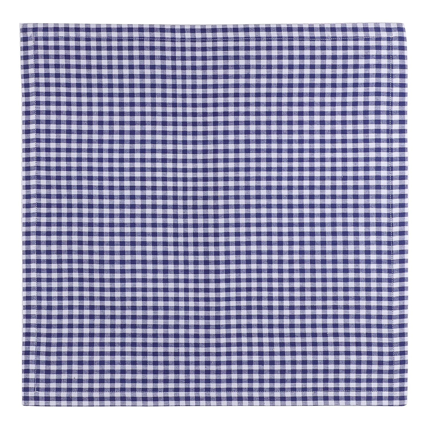 Oversized Black-White Heavy Quality Lint Free 50 x 50 CM Hotel Grade 100/% Cotton Yarn Dyed Machine washable SweetNeedle Gingham Checks Dinner Napkins 12 Pack Hemmed with Mitered corners