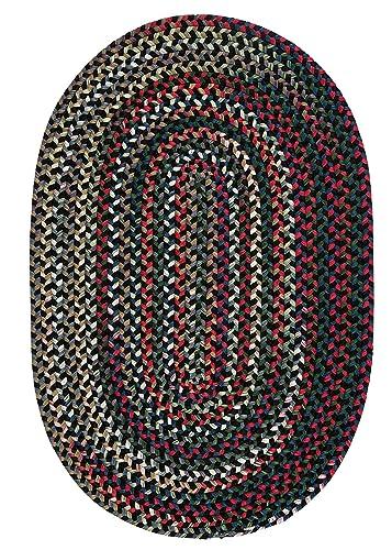Chestnut Knoll Polypropylene Braided Rug, 5-Feet by 8-Feet, Black Satin