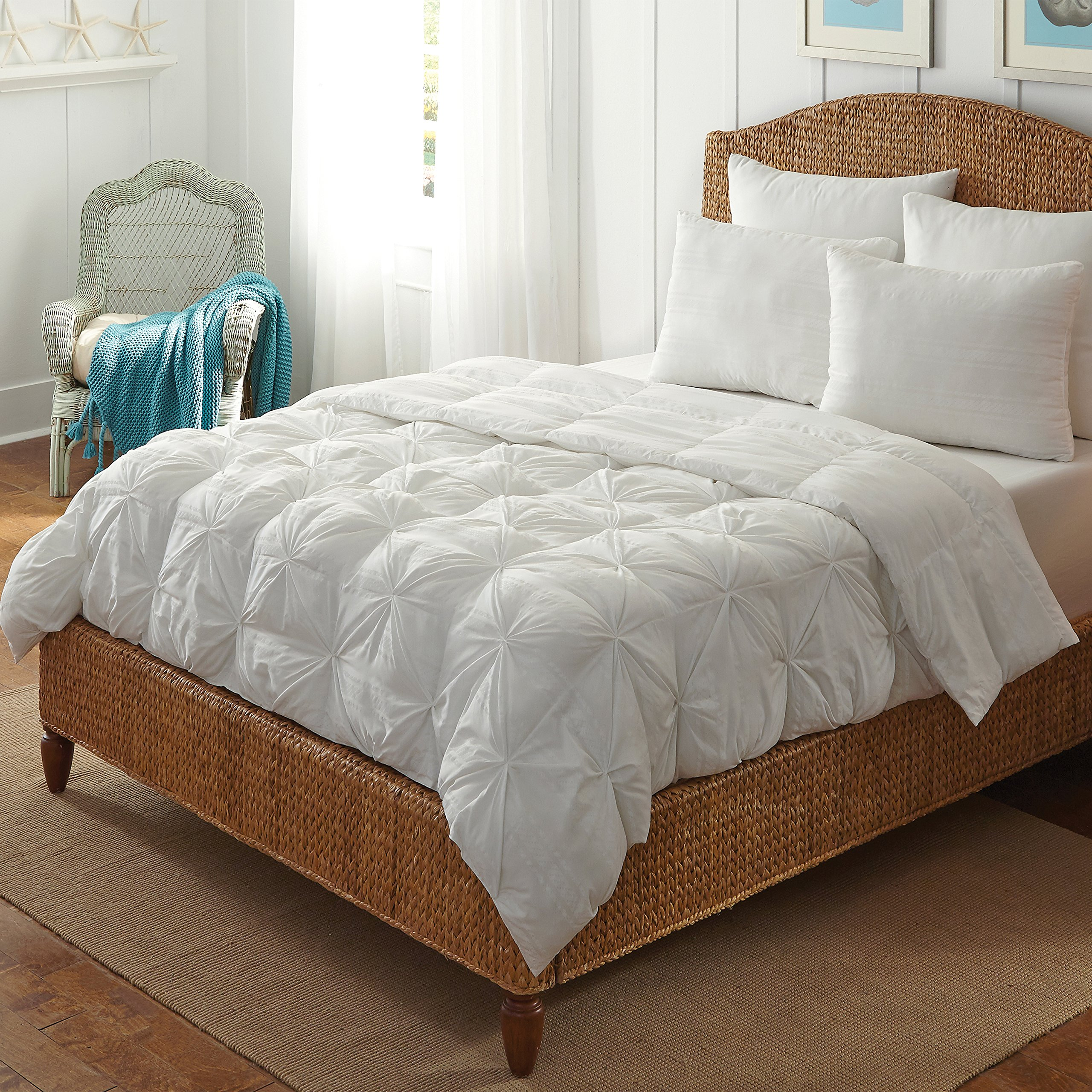 Hotel Laundry CF-023-1T All Season Goose Down Alternative Comforter Hotel Pin Tuck Style