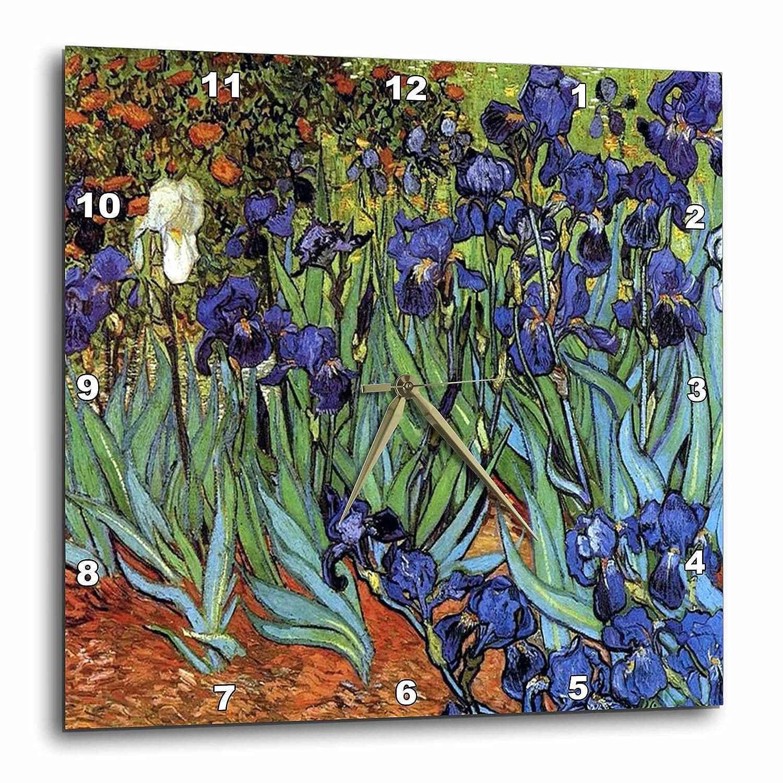 Wall Clock 13-inch 3dRose 3D Rose Van Gogh Irises DPP/_48248/_2