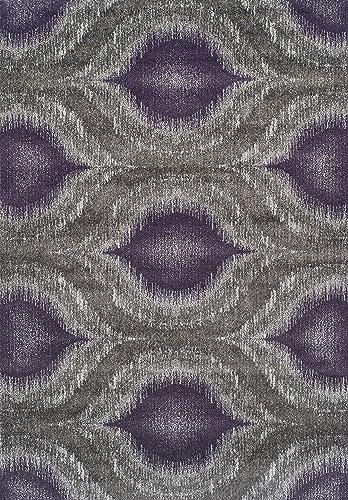 Dalyn Rugs Modern Greys Rug, 5 3 x 7 7 , Plum