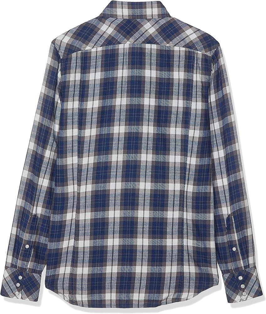 G-STAR RAW 3301 Core Shirt L/s Camisa, Multicolor (Indigo/Carbid Check 9895), X-Small para Hombre: Amazon.es: Ropa y accesorios