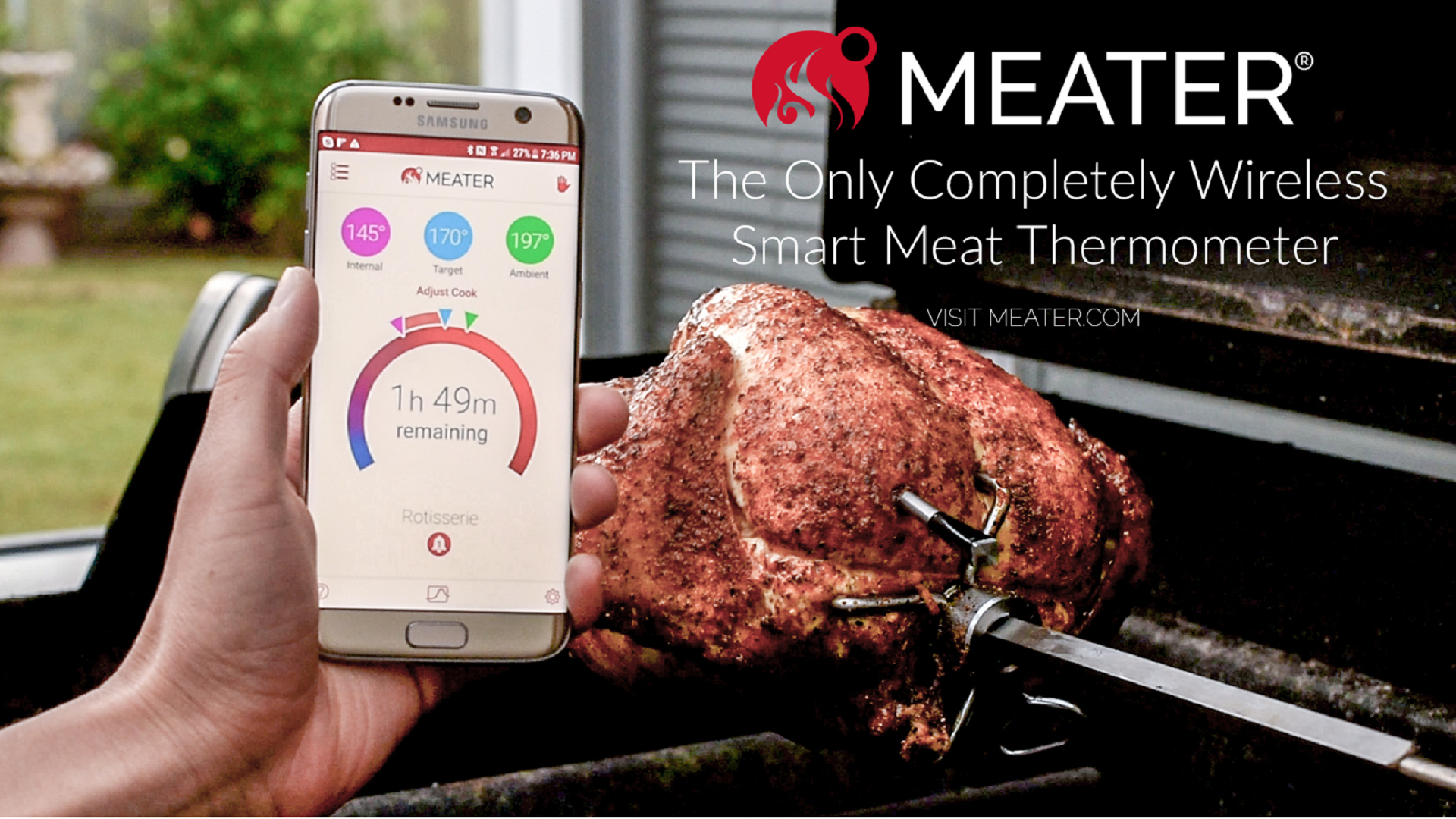 Meater Temperature Meter for Meat Thermometer Turkey Chicken Fish Beef Best Hand