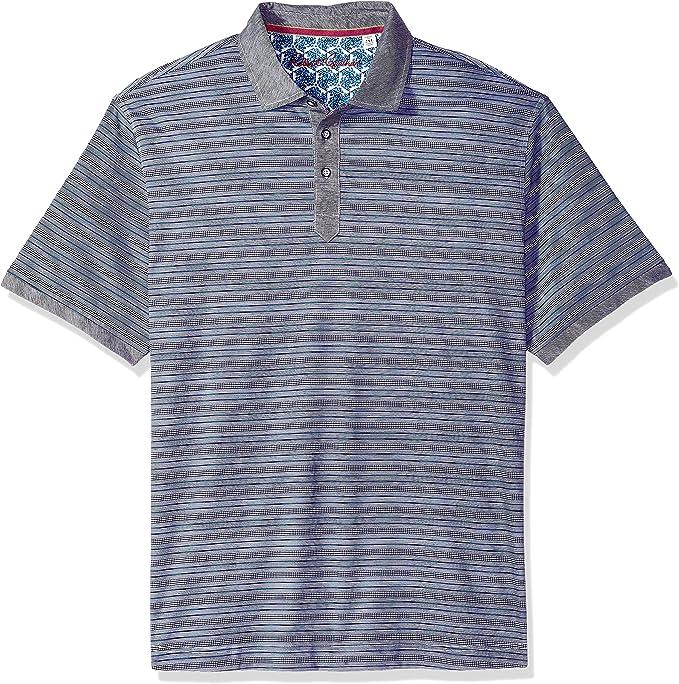 Robert Graham Mens Faraday Short Sleeve Knit Polo