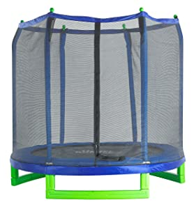 Upper Bounce Indoor/Outdoor Classic Trampoline and Enclosure Set (7-Feet)