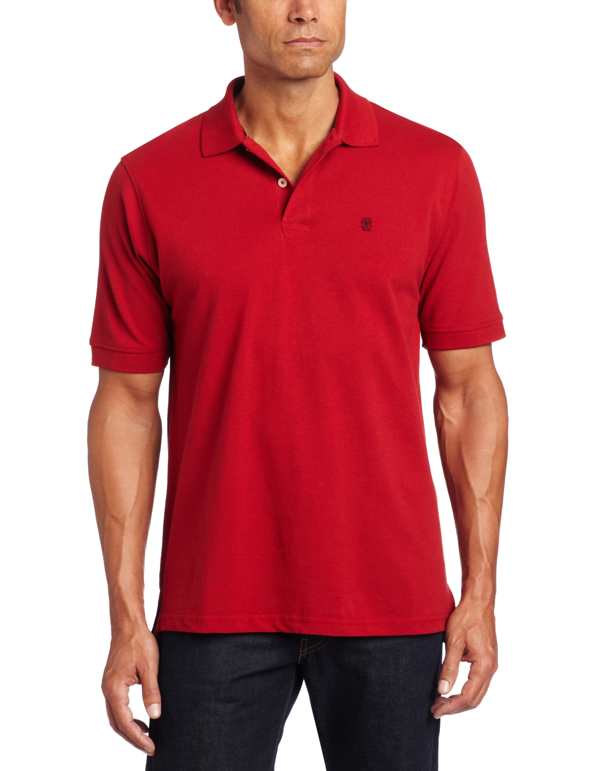 IZOD Men's Big and Tall Heritage Short Sleeve Polo, Real Red, 3X-Large Big