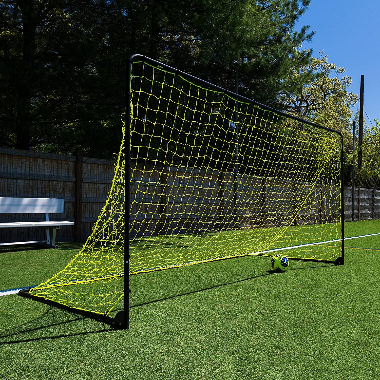 Franklin Sports Premier Steel Soccer Goal Folding Backyard Soccer Goal with All Weather Net 10x5 6x4 12x6 Kids Backyard Soccer Net Easy Assembly 6x3 Soccer Goal