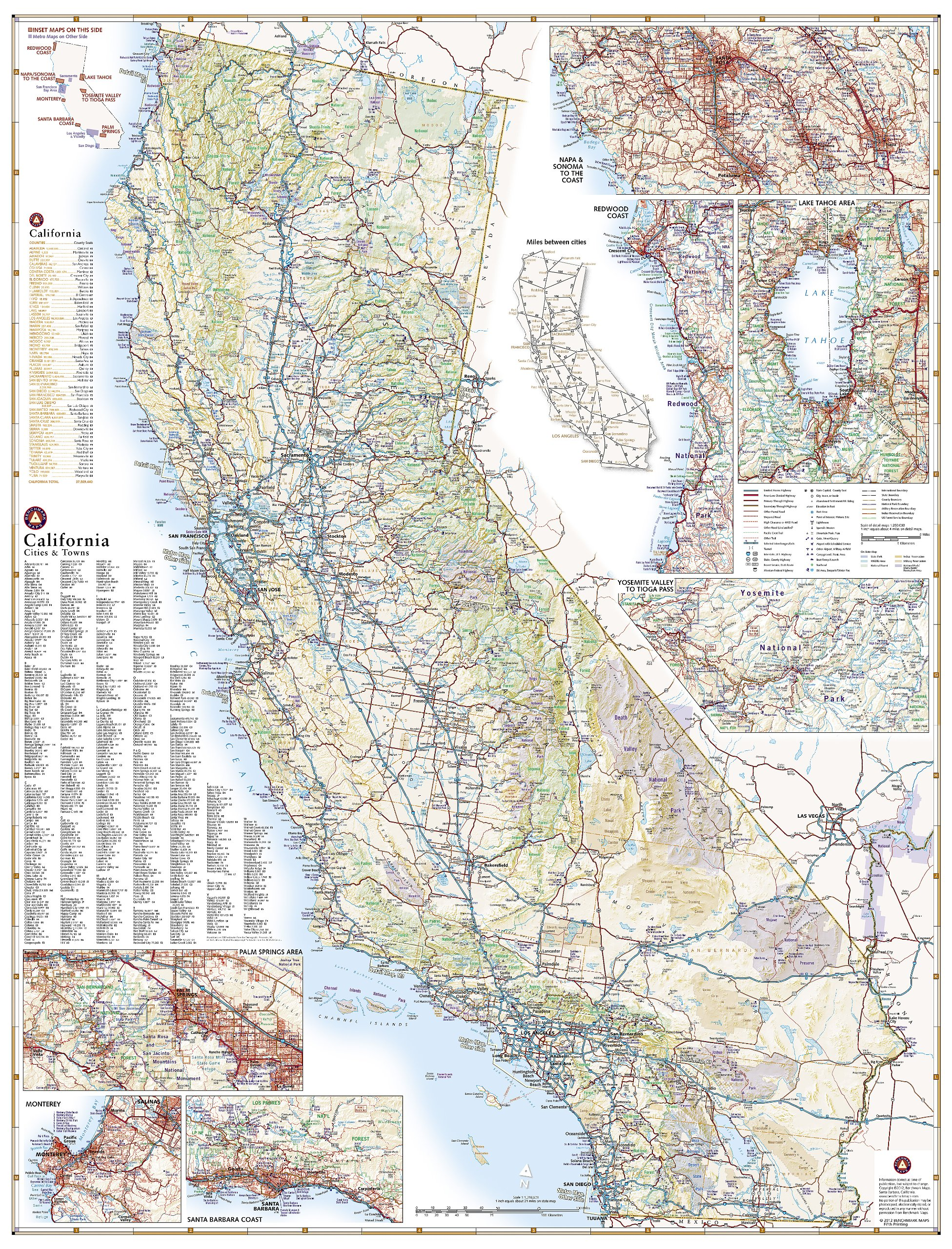 Benchmark California Road Map Benchmark Maps National Geographic
