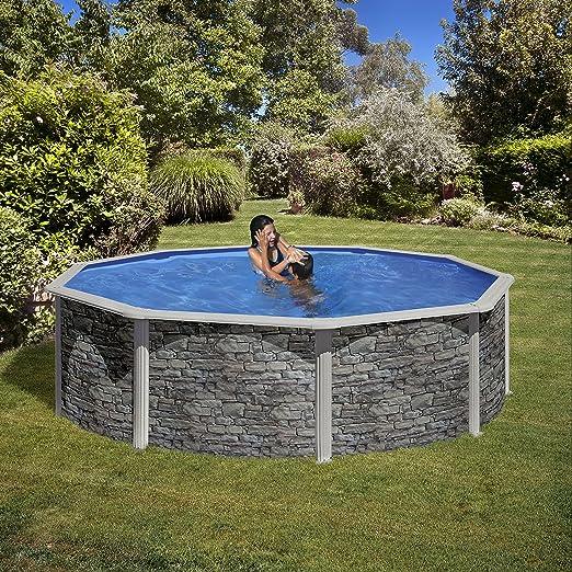 Pool Set Piedra cerdana by Gre - Piscina (460 x 120 cm: Amazon.es ...