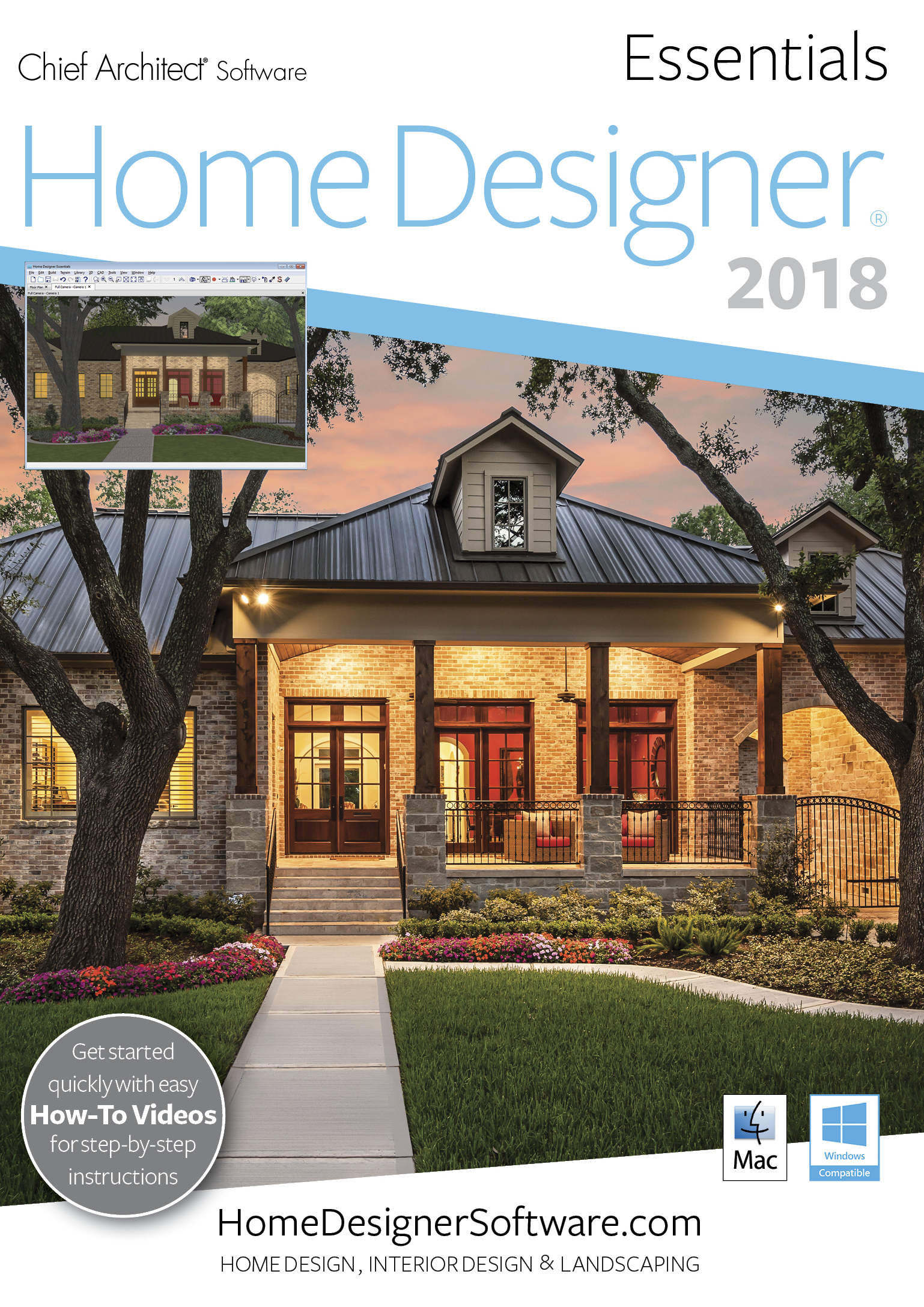 Home Designer Essentials 2018 - PC Download [Download] by Chief Architect