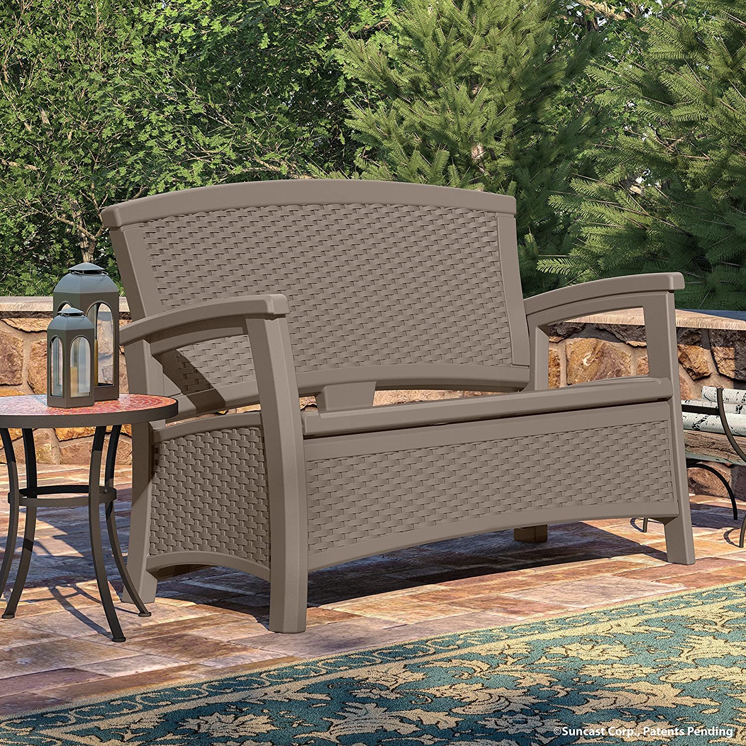 Patio Loveseat With Storage