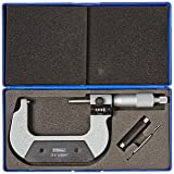 "Fowler Full Warranty Inch Digit Outside Micrometer, 52-224-003-0, 2-3"" Measuring Range, 0.0001"" Graduation"