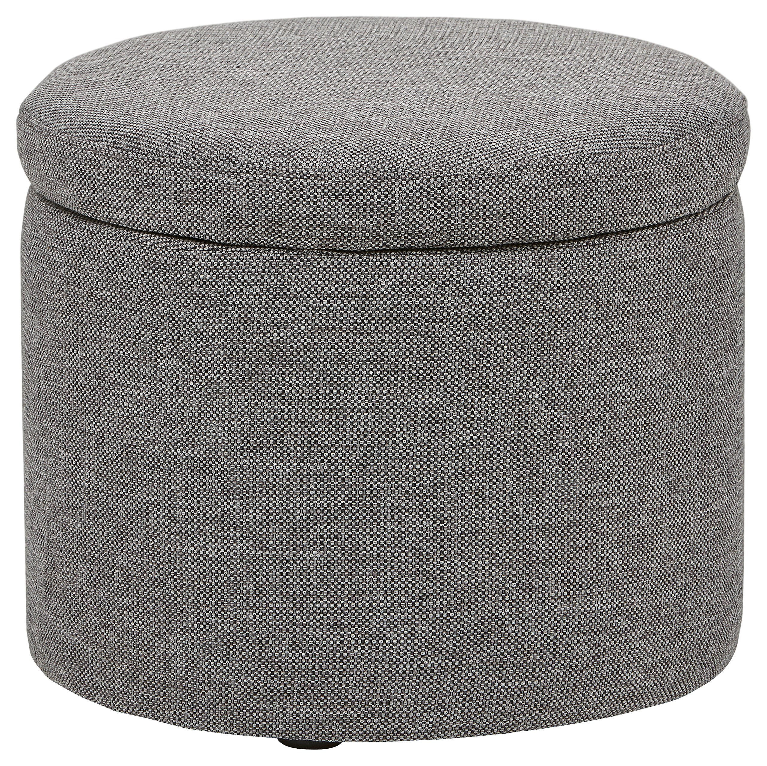 Rivet Madison Lift-Top Modern Storage Ottoman, 20'' W, Grey Storm