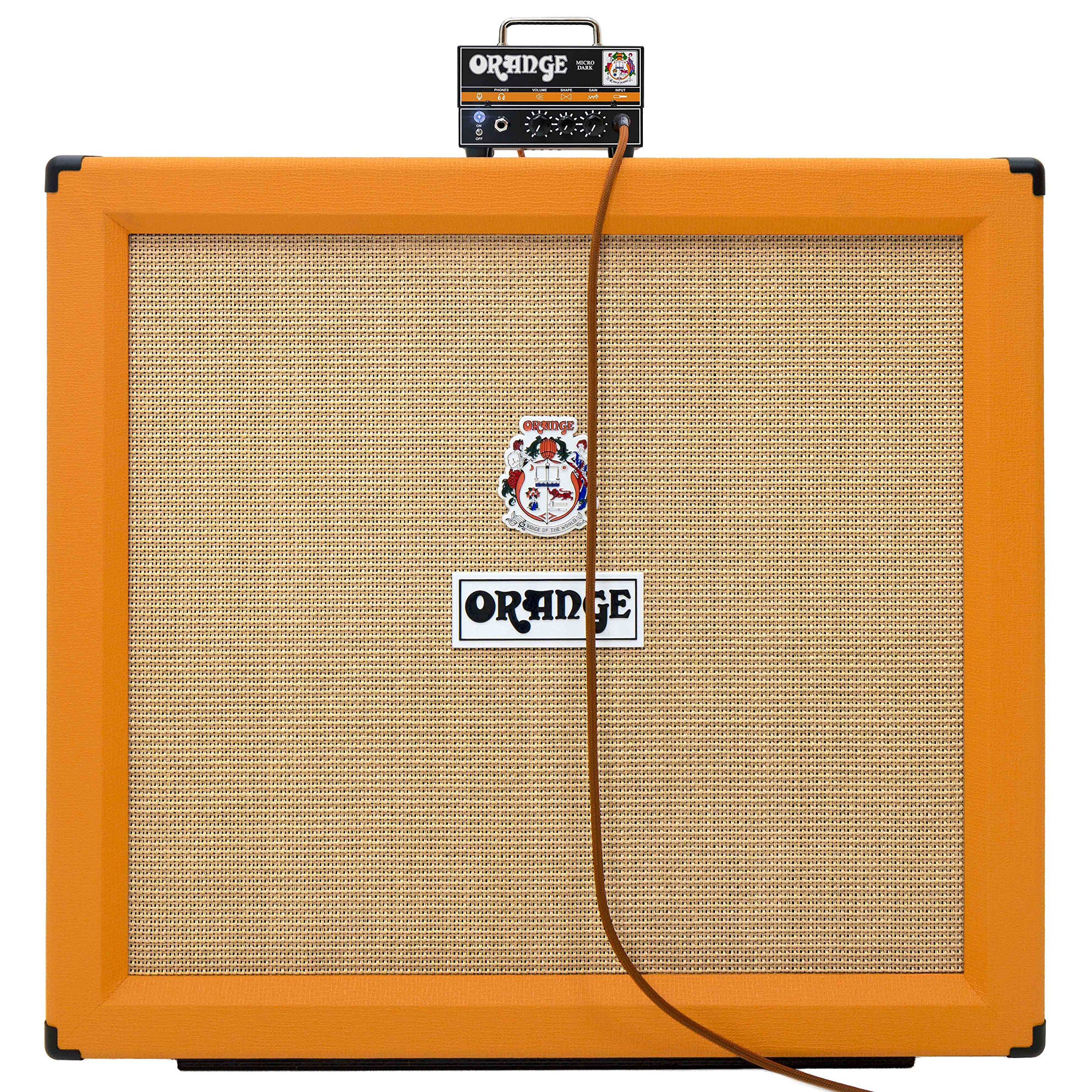 Orange MD20 Micro Dark 20-Watt Mini Guitar Amplifier Head Bundle with Instrument Cable and Austin Bazaar Polishing Cloth by Orange (Image #1)