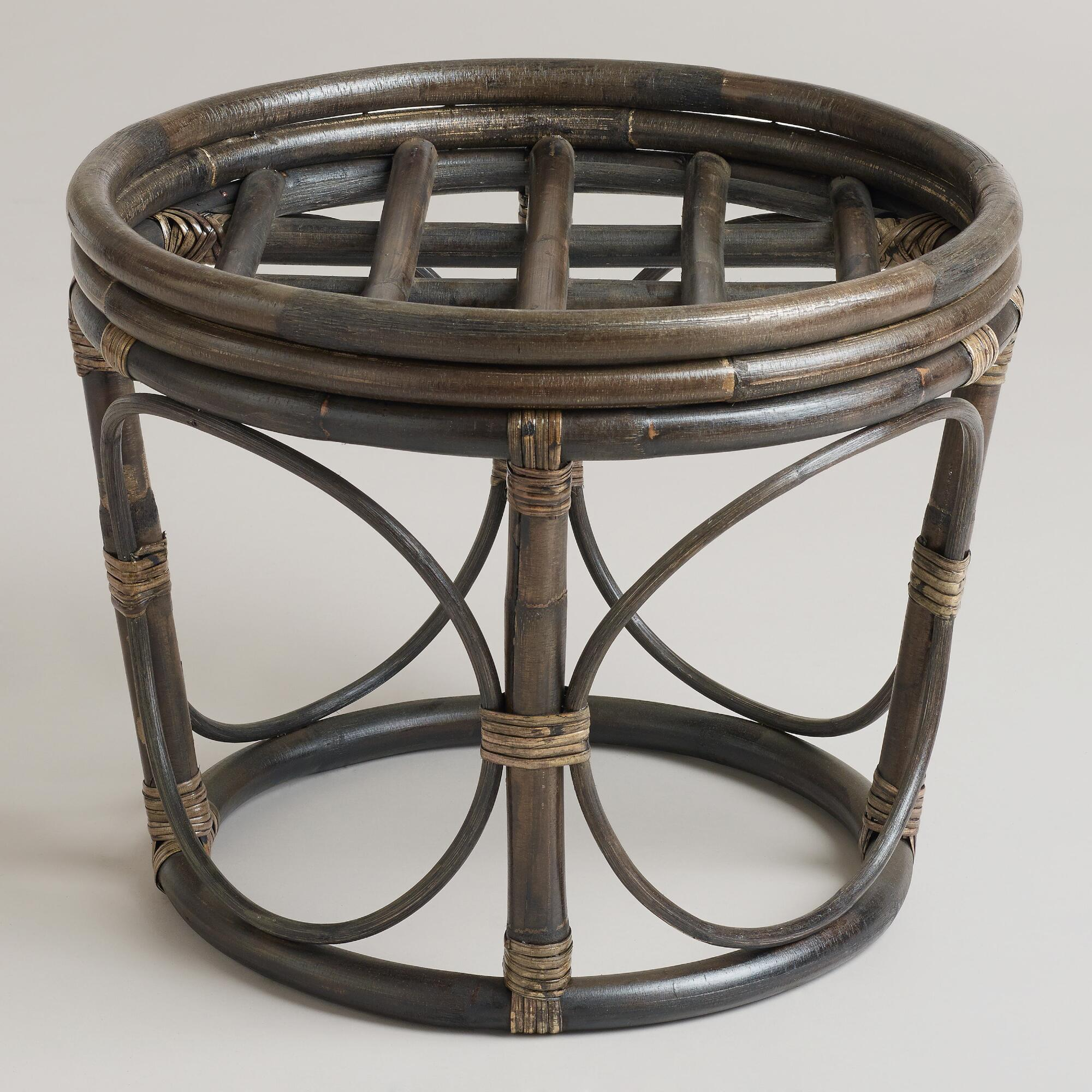 Espresso Papasan Stool Frame | World Market