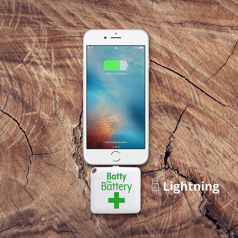 Batty One Batería de emergencia, 2 piezas, para smartphone, iPhone ...