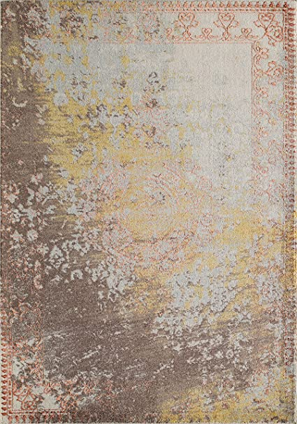 Momeni Rugs LUXE0LX-13RST3B57 Luxe Collection Power-Loomed Contemporary Area Rug, 3'