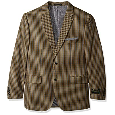 Alexander Julian Colours Men's Big and Tall Big & Tall Single Breasted Modern Fit Check Sportcoat: Clothing