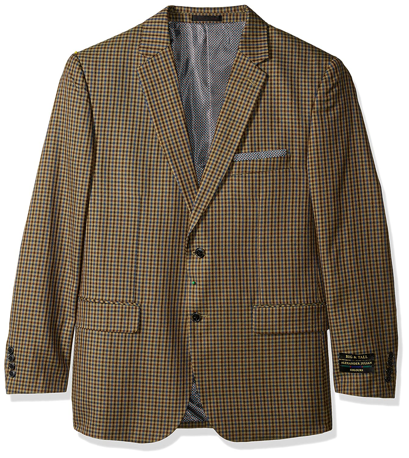 Alexander Julian Colours Men's Big & Tall Single Breasted Modern Fit Check Sportcoat Alexander Julian Child Code