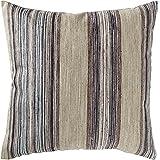 "Amazon Brand – Rivet Bohemian Stripe Decorative Pillow, 17"" x 17"", Dusk"